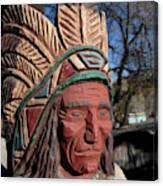 Cigar Store Indian  Canvas Print