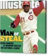 Cincinnati Reds Deion Sanders... Sports Illustrated Cover Canvas Print