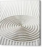 Circles And Lines In Sand Canvas Print