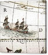 Circulus Aequinoctalis, Historical Map Canvas Print