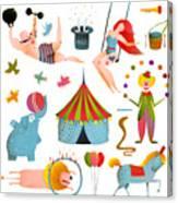 Circus Carnival Show Clip Art Vintage Canvas Print