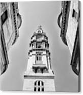 City Hall In Center City Philadelphia In Black And White Canvas Print