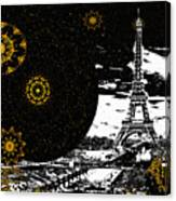 City Of Lights - Kaleidoscope Moon For Children Gone Too Soon Number 6  Canvas Print
