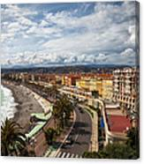 City Skyline Of Nice In France Canvas Print