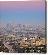 Cityscape Of Los Angeles Canvas Print