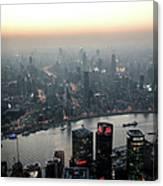 Cityscape Puxi Shanghai Canvas Print