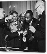 Civil Rights Bill Canvas Print
