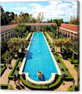 Classic Awesome J Paul Getty Architectural View Villa  Canvas Print