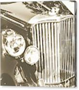 Classic Car Chrome Canvas Print