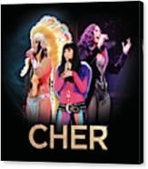 Classic Cher Trio Canvas Print