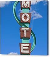 Classic Motel Sign Canvas Print