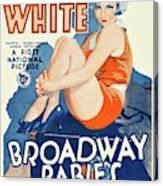 Classic Movie Poster - Broadway Babies Canvas Print