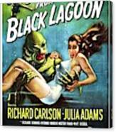 Classic Movie Poster - Creature From The Black Lagoon Canvas Print