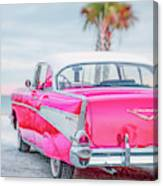 Classic Vintage Pink Chevy Bel Air  8x10 Scene Canvas Print
