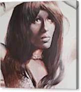 Claudia Lennear.brown Sugar.lady Grinning Soul Canvas Print
