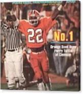 Clemson University Perry Tuttle, 1982 Orange Bowl Sports Illustrated Cover Canvas Print