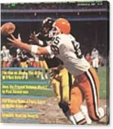 Cleveland Browns Dave Logan And Pittsburgh Steelers Mel Sports Illustrated Cover Canvas Print