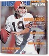 Cleveland Browns Qb Bernie Kosar, 1988 Nfl Football Preview Sports Illustrated Cover Canvas Print