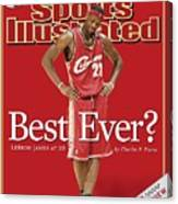 Cleveland Cavaliers LeBron James... Sports Illustrated Cover Canvas Print