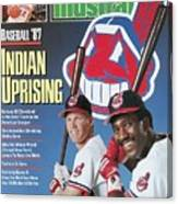 Cleveland Indians Cory Snyder And Joe Carter, 1987 Mlb Sports Illustrated Cover Canvas Print