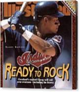 Cleveland Indians Manny Ramirez, 1996 Mlb Baseball Preview Sports Illustrated Cover Canvas Print