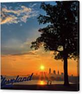 Cleveland Sign Sunrise Canvas Print