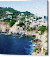 Cliffs in Acapulco Mexico I Canvas Print