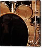 Close-up Of A Drum Kit Canvas Print