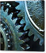 Close Up Of Greasy And Oily Gears Canvas Print