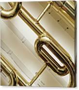 Close-up Of Trumpet Canvas Print