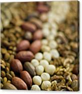 Close Up Of Variety Of Nuts Canvas Print