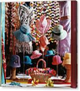 Clothing Store Window Display Canvas Print