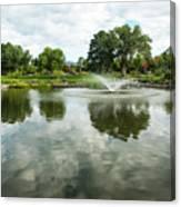 Clouds On Ashley Pond Canvas Print
