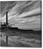 Clouds Over The Chipiona Faro Canvas Print