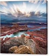 Cloudy Morning at Lake Powell Canvas Print