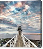 Cloudy Skies At Marshall Point Canvas Print