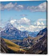 Cloudy Sky Over Grey Mountains Of Canvas Print