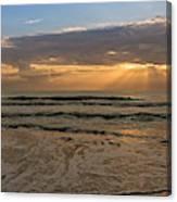 Cloudy Sunrise In The Mediterranean Canvas Print