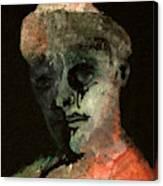 Clown On Black Canvas Print
