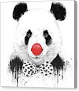 Clown Panda Canvas Print