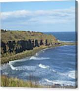 coastal bay at Cove with cliffs Canvas Print