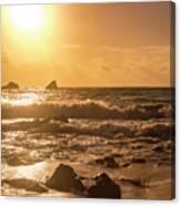 Coastal Sunrise Silhouette Canvas Print