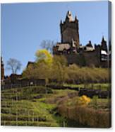 Cochem Castle And Vineyard In Germany Canvas Print