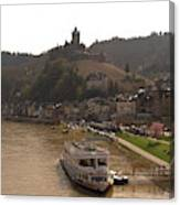 Cochem Castle, Town And River Mosel In Germany Canvas Print