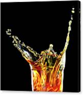 Cocktail With Big Splash In A Tumbler Canvas Print