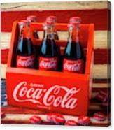 Coke And American Flag Canvas Print