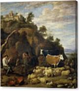 Coloquio Pastoril   Canvas Print