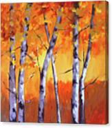 Color Forest Landscape Canvas Print