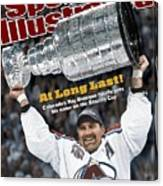 Colorado Avalanche Ray Bourque, 2001 Nhl Stanley Cup Finals Sports Illustrated Cover Canvas Print
