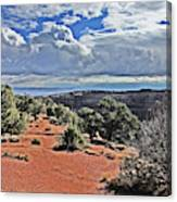 Colorado National Monument Trees Rock Formations Clouds 3001 Canvas Print